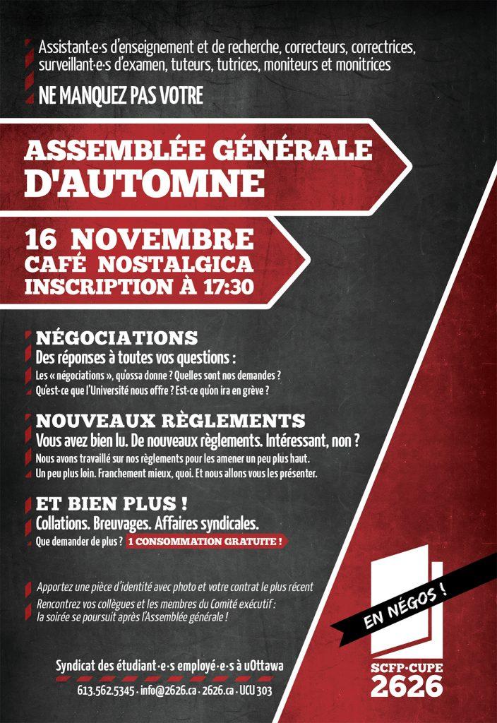 Affichette Assemblée générale automne 2016