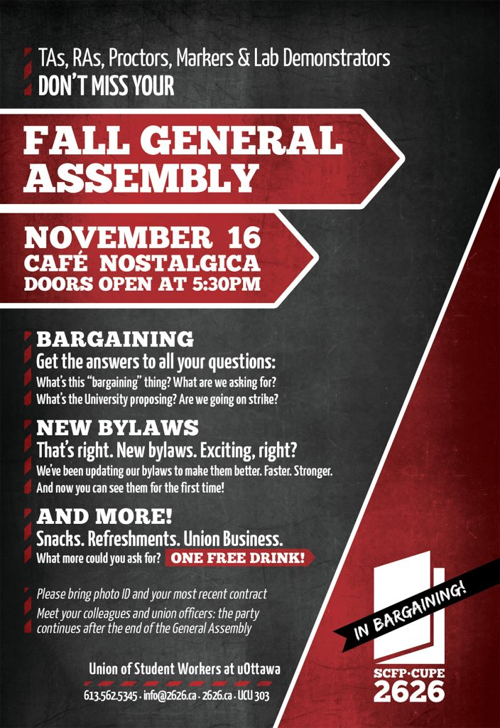 Flyer for 2016 Fall General Assembly