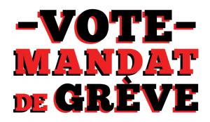 Site web - vote de mandat de grève